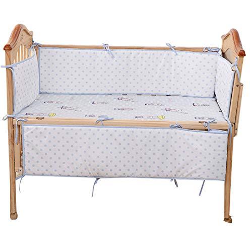 Jiyaru 4 Pieces Baby Crib Bumper Breathable Cotton Nursery Bedding Cot Pads ()