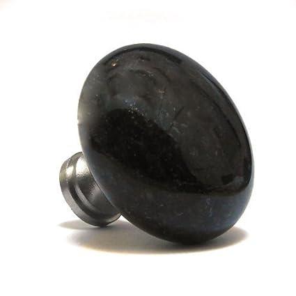 Pushka Maison Noir Galaxy Rond Pierre Naturelle Marbre granite Placard  Cuisine Pommeau De Porte Anse Pull. individuellement noir granite boutons  pour ...