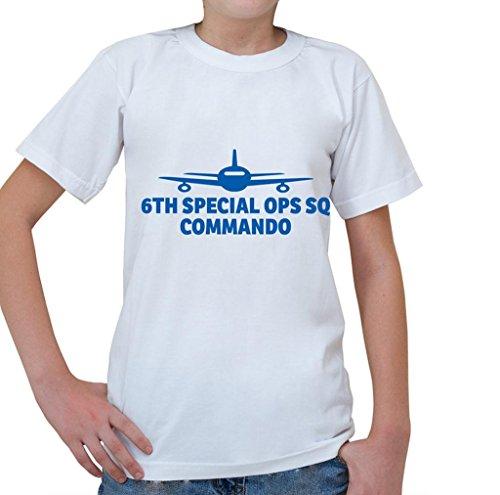 6TH SPECIAL OPS SQ, COMMANDO Aviation Pilot Kids Short Sleeve T Shirt