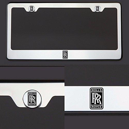 one-laser-engraved-black-rolls-royce-logo-mirror-stainless-steel-license-plate-frame-holder-front-or