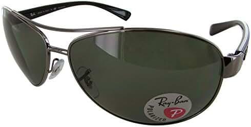 Ray Ban Mens RB3386 Polarized Oversized Aviator Sunglasses