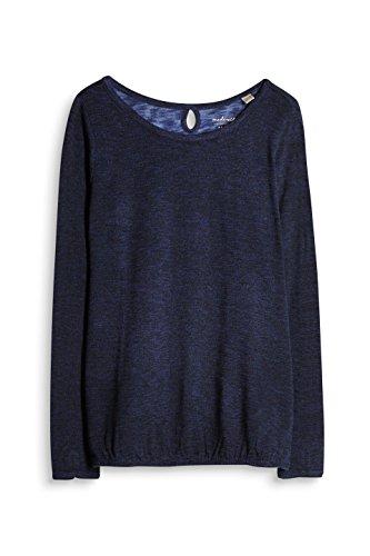 ESPRIT, Camisa Manga Larga para Mujer Azul (Navy 400)