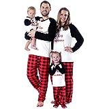 Baywell Christmas Holiday Matching Santa Printed Pajama Family Clothes Sets (Baby, L/12-18M/90)