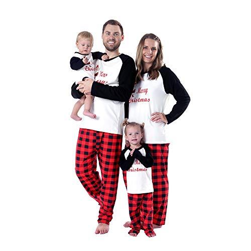 Baywell Christmas Holiday Matching Santa Printed Pajama Family Clothes Sets (Baby, L/12-18M/90)]()