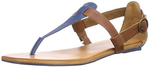 Caprice 28105 - sandalias abiertas de piel mujer azul - Blau (BLUE/COGNAC/835)