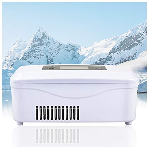 REAQER Insulin Cooler and Medicine Refrigerator 2-8°C for Car, Travel, Home Rechargeable Portable Refrigeration Box for Medication
