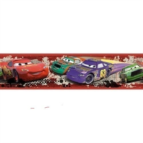 7' Beaded Border (CARS WALLPAPER BORDER self stick McQueen Mater Piston Cup room decal)