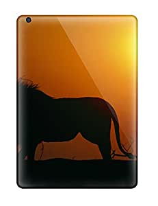 Hot Snap-on Lion On Silhouette Hard Cover Case/ Protective Case For Ipad Air