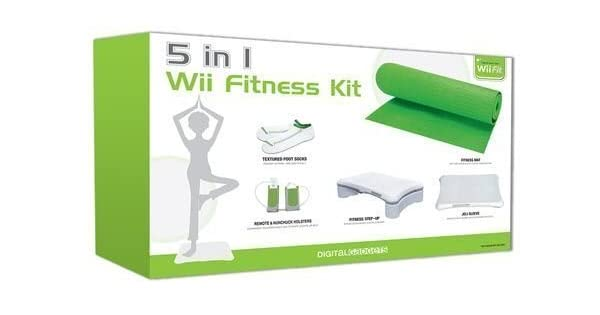 Amazon.com: 5-in-1 Wii Fitness Kit Bundle: Includes Step-up ...