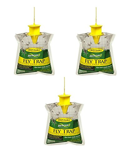 Sterling Rescue Outdoor Disposable Fly Catcher, Control Trap with Attractant, Insecticide Free (3 Pack)