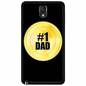 #1 Dad Gold Token Plastic Phone Case Back Cover Samsung Galaxy Note III 3 N9002