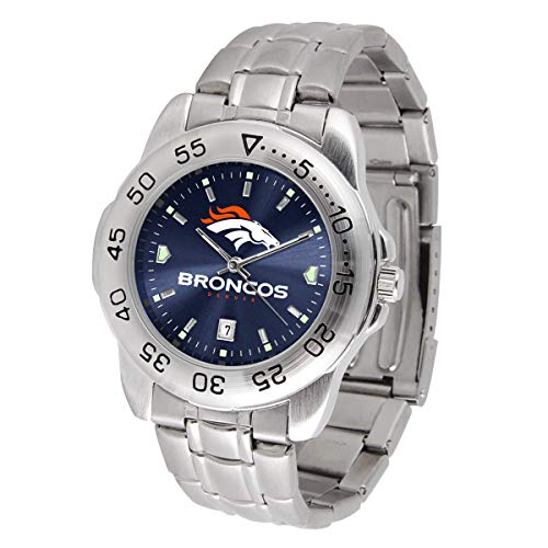 (Game Time NFL Denver Broncos Mens Sport SteelWrist Watch, Team Color, One Size)