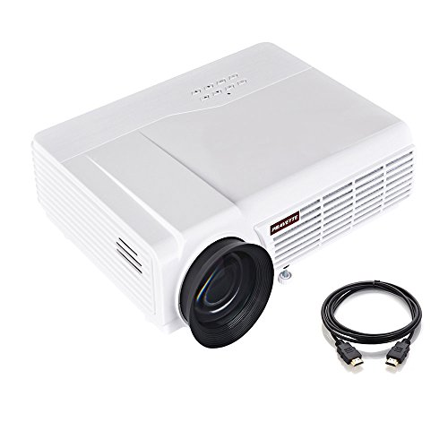 Portable Projector, PRAVETTE Home Theater Mini Projector Support 4K HD Video/1080P Movie, Home Audio/LCD,LED TV/Blu-ray Player/Digital Video Recorder,Phone/PC/Camera,Outdoor/Office