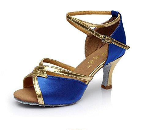 Scarpe Donna B Fondo Morbido di Tacchi Ballo Latino Latino Alti S Scarpe da da Sandalo Ballo GUOSHIJITUAN Danza 6WnYpdqTp