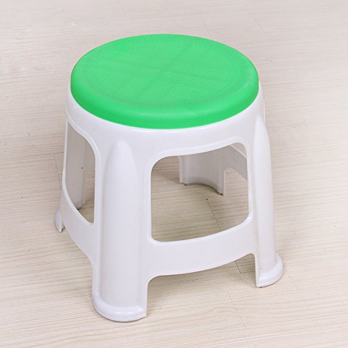 STJK$BMJW Plastic Stool Bathroom Stool Foot Washing Stool Dining Chair Plastic Chair Skid Proof Table Children'S Round Stool (302525Cm) (2) Green