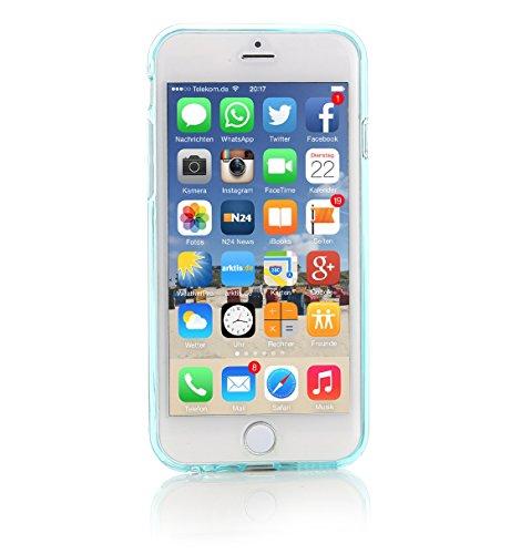ArktisPRO Cushion Clear Case für Apple iPhone 6 glasklar/türkis
