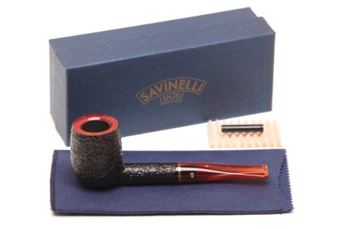 Savinelli Roma Rustic 111 KS Lucite Stem Tobacco Pipe ()