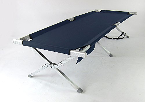 Crazy Summer Sales Aluminum Portable Folding Military Cot (Blue) - GI Bed | Military Bed | Foldable cot | Camping Cot | Camping Bed | Outdoor Sleeping | Tent Sleeping | Napping | Rest Outdoor