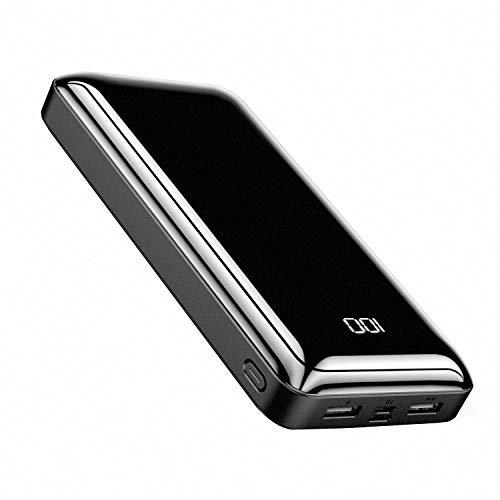 Bextoo Portable Charger Power Bank 30000mAh, Huge Capacity External Battery 2 USB Output & Input Ports USB-C Fast…
