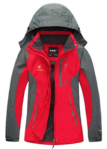 Diamond Candy Women Windproof Hooded Ski Waterproof Rain Jacket Lightweight for Hiking (Best Way To Hang Skis)