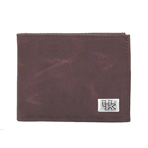 Eagles Wings NCAA Kentucky Wildcats Men's Bi Fold Wallet, One Size, Brown