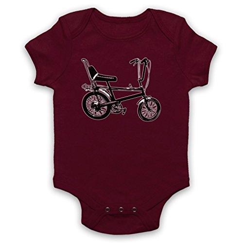 Maroon 5 Merchandise (My Icon Unisex-Babys' Chopper Bike Retro Baby Grow, Maroon, 3-6 Months)