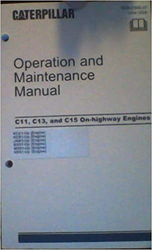 Caterpillar Operation And Maintenance Manual C11 C13 And