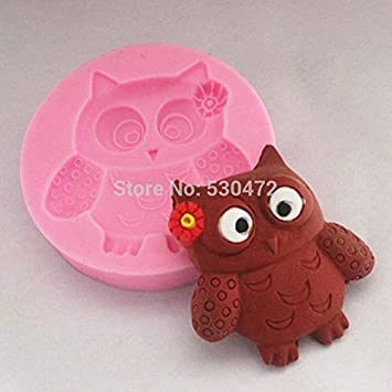 Molde de silicona para tartas, diseño de búho, color marrón: Amazon.es: Bricolaje y herramientas