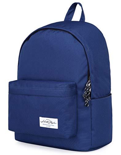 CANDER Classic College Bookbag Travel Backpack, Navy (Best Backpack For Travel 2019)