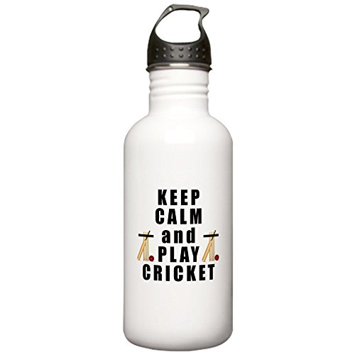 CafePress - Keep Calm and Play Cricket Water Bottle - Stainless Steel Water Bottle, 1.0L Sports Bottle by CafePress