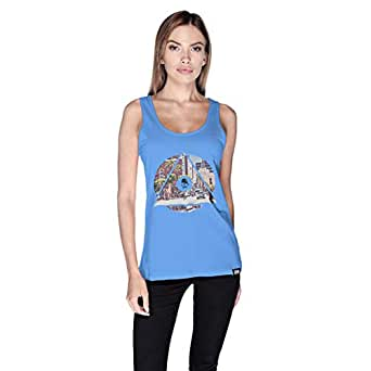 كريو La City Tank Top For Women - L, Blue