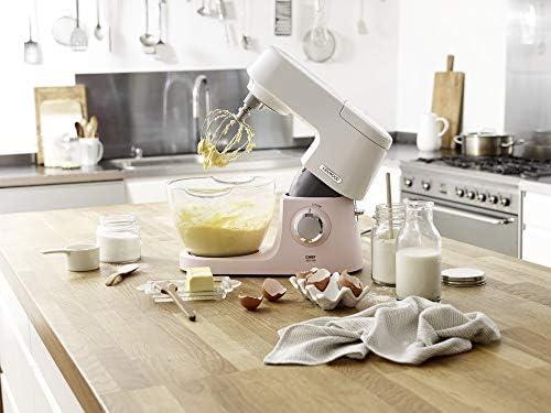 Kenwood Chef Sense KVC5100P - Robot de cocina de 4,6 litros, cuenco de cristal Easy Lift & Interlock, 1200 W, incluye juego de 3 piezas y libro de recetas, color rosa: Amazon.es: Hogar