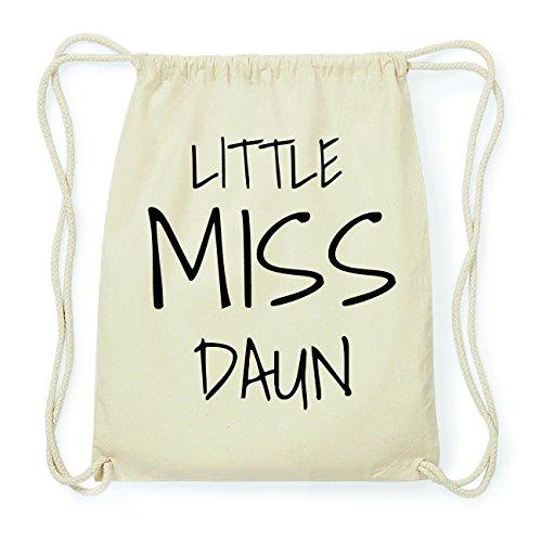 JOllify DAUN Hipster Turnbeutel Tasche Rucksack aus Baumwolle - Farbe: natur Design: Little Miss QBKy1N5Gbg