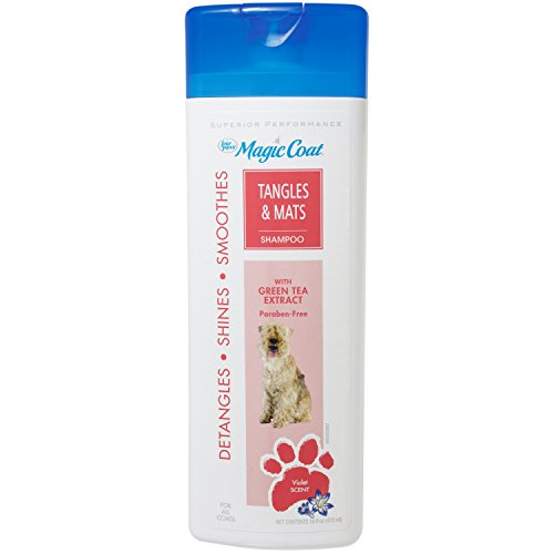 Four Paws Magic Coat Tangles and Mats Dog Grooming Shampoo, 16 - Dog Four Magic Shampoo Paws Coat