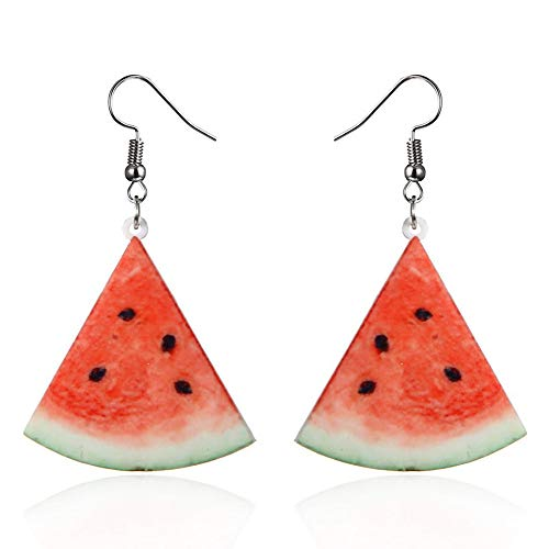 Cute Earrings for Women Trendy Statement Creative Funny Lifelike Fruits Acrylic Dangle - Dangle Bell Wedding