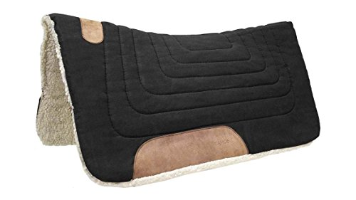Pads Horse Saddle Felt (Tahoe Tack Canvas Contour Western Horse Saddle Pad - Multiple Colors and Sizes)