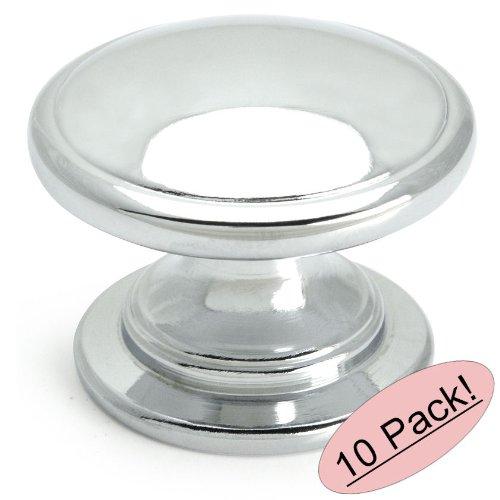 10 Pack - Cosmas 4702CH Polished Chrome Cabinet Hardware Round Knob - 1-1/4