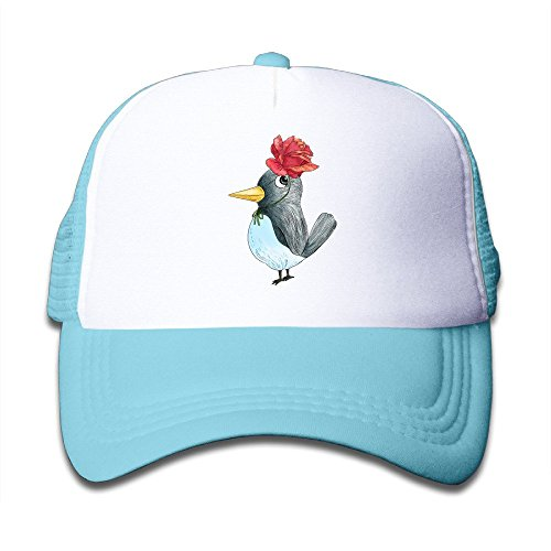 Sport Rose Bird Kids Snapback Cap Hat Boys Girls Adjustable One Size SkyBlue]()