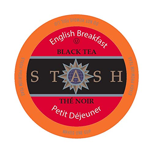Stash Tea English Breakfast Single-Cup Tea for Keuirg K-Cup Brewers, 40 Count