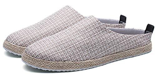 Oudan En 9 Taille 7 Pantoufles Casual 43eu Lazy Sandals Hommes Chaussures coloré Baotou Lin H1Hr6UPwva