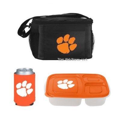 NCAA Clemson Lunch Cooler Set | Clemson Tigers Cooler, Lunch Container & Pocket Coolie