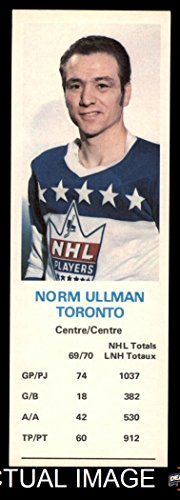 1970 Dad's Cookies # 130 Norm Ullman Maple Leafs (Hockey ...