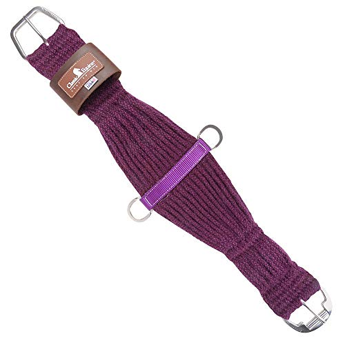 - Classic Equine Horse 100% Mohair Roper Cinch Roller Buckle Soft 27 Strand (Purple, 30