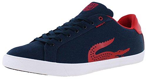 Lacoste Mens Grad Vulc Tsk Oss Spm Dk Blu / Röd Mode Sneaker Mörkblå / Röd