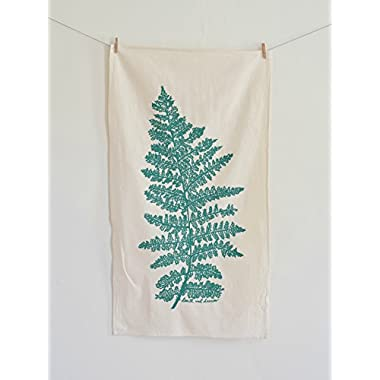 Fern Tea Towel in Green