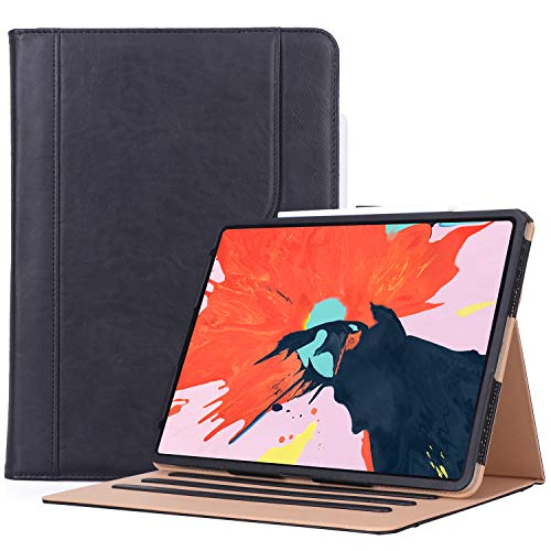 (ProCase iPad Pro 12.9 Case 3rd Generation, Stand Folio Cover Protective Case for Apple iPad Pro 12.9 Inch 2018 Model A1876 A2014 A1895 A1983 -Black)