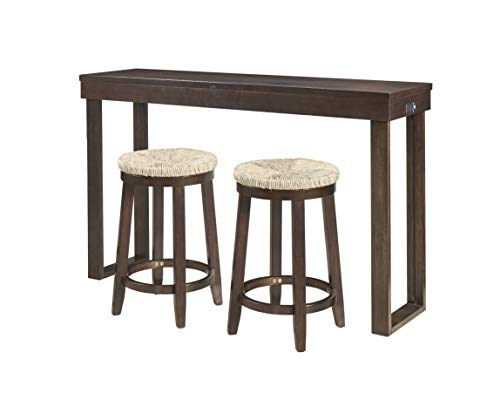 (Powell Company PAMZN1593 Powell Holcomb Espresso Brown 3PC Console, Dining, Table Stool Set )