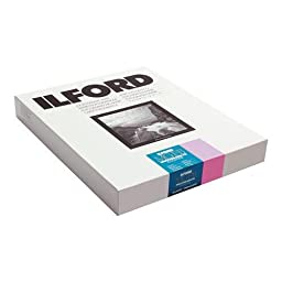 Ilford MGFBCT1K Multigrade FB Cooltone Fiber Based Variable Contrast, Doubleweight Black & White Enlarging Paper 8x10\