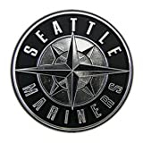 Seattle Mariners Silver Chrome Auto Emblem Decal Baseball