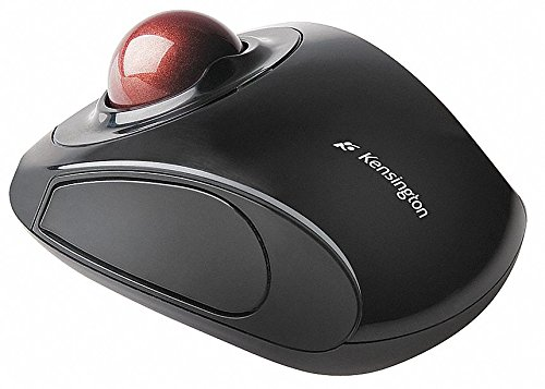 Kensington Wireless Trackball Mouse, Optical, Black, Nano Receiver